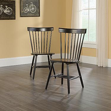 Sauder Spindle Back Chair (set of 2)