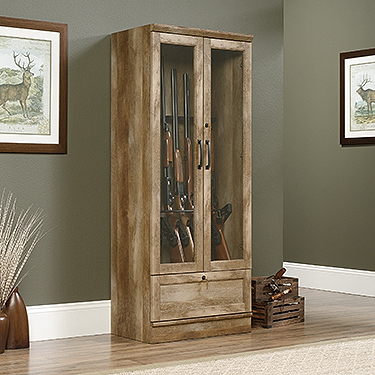 Sauder Gun Display Cabinet