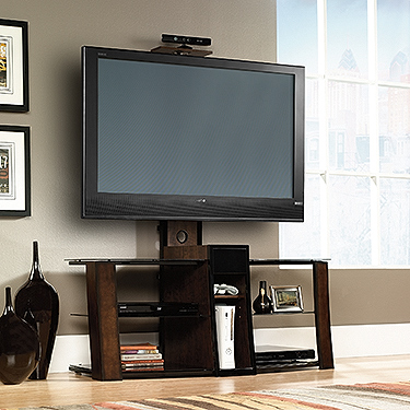 Sauder Consol Entertainment Credenza With Mount