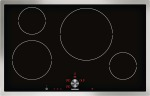 Induction cooktop Stainless steel frame Width 30