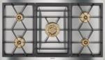 Vario gas cooktop 400 series Stainless steel Width 36