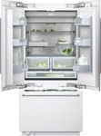 Three-door bottom freezer with integrated ice maker with temperature controlled drawer fully integrated Width 36