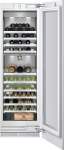 Wine storage unit Fully integrated, with glass door Width 24