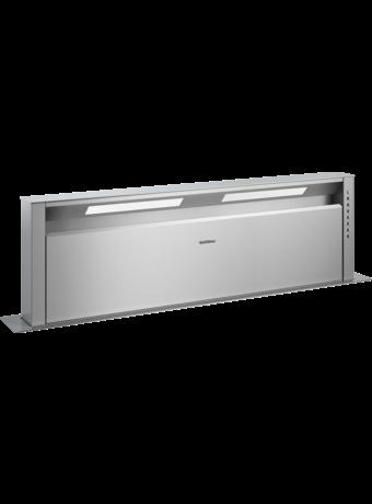 Retractable downdraft ventilation