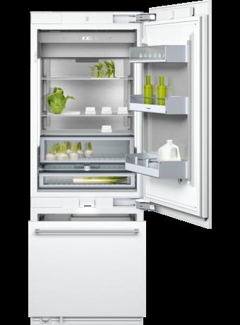 Two-door bottom freezer with integrated ice maker