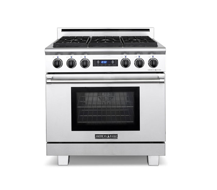 "American Range 36"" MEDALLION SERIES DUAL FUEL SELF-CLEAN RANGE"