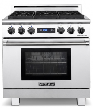 American Range 36 MEDALLION SERIES DUAL FUEL SELF-CLEAN GAS RANGE