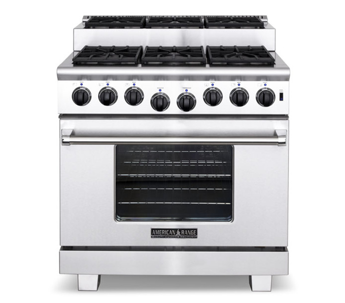"American Range 36"" TITAN STEP-UP GAS RANGE"