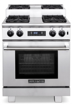 American Range 30 TITAN STEP-UP DUAL FUEL GAS RANGE