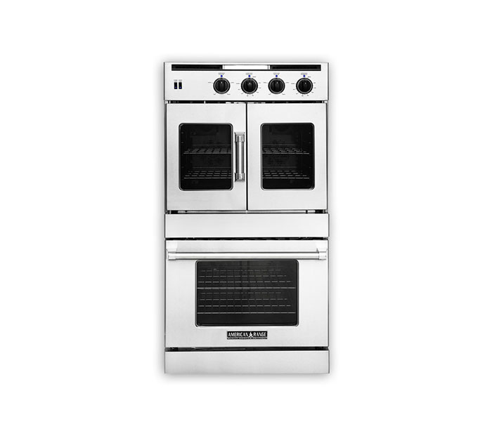 "American Range 30"" LEGACY FRENCH & CHEF DOOR DOUBLE DECK WALL OVEN"