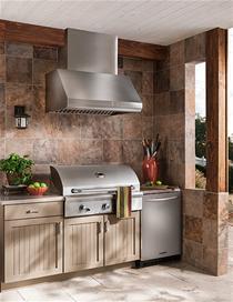 "Model: WPD38I36SB | Best 36"" Stainless Steel Model WPD38I36SB Pro-Style Outdoor Hood"