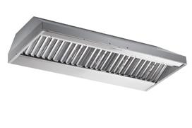 """Best 66"""" Stainless Steel Built-In Range Hood with iQ12 Blower System 1200 CFM"""