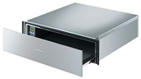 "Smeg Food and Dish Warming Drawer for Compact Ovens, 24"" (60cm). Finger-proof Stainless Steel Classic Aesthetics"