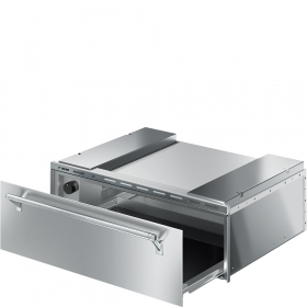 "Smeg Food and Dish Warming Drawer for Compact Ovens, 30"" (76cm). Finger-proof Stainless Steel Classic Aesthetics"