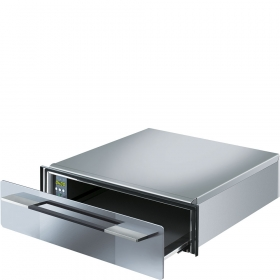 "Smeg Food and Dish Warming Drawer for Compact Ovens, 24"" (60cm). Silverglass Linea Aesthetics"