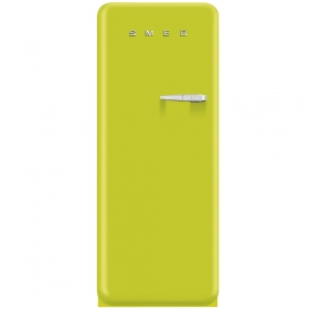 Smeg 50'S Style Refrigerator with ice compartment, Lime green, Left hand hinge