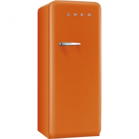 Smeg 50'S Style Refrigerator with ice compartment, Orange, Right hand hinge