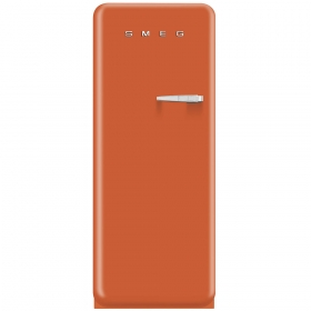 Smeg 50'S Style Refrigerator with ice compartment, Orange, Left hand hinge