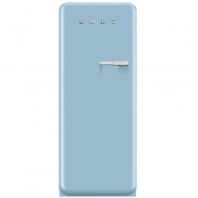 Smeg 50'S Style Refrigerator with ice compartment, Pastel blue, Left hand hinge