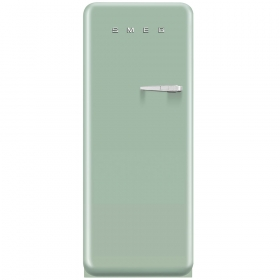 Smeg 50'S Style Refrigerator with ice compartment, Pastel green, Left hand hinge
