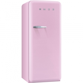 Smeg 50'S Style Refrigerator with ice compartment, Pink, Right hand hinge