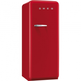 Smeg 50'S Style Refrigerator with ice compartment, Red, Right hand hinge