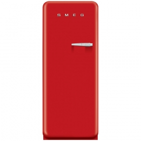 Smeg 50'S Style Refrigerator with ice compartment, Red, Left hand hinge