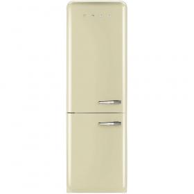 50'S Retro Style refrigerator with automatic freezer, Cream, Left hand hinge