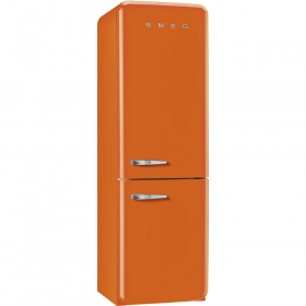 50'S Retro Style refrigerator with automatic freezer, Orange, Right hand hinge