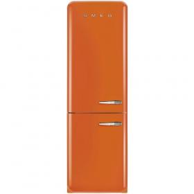 50'S Retro Style refrigerator with automatic freezer, Orange, Left hand hinge