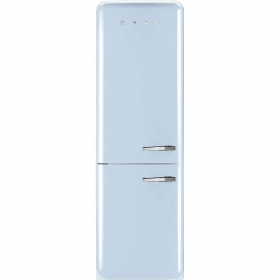 50'S Retro Style refrigerator with automatic freezer, Pastel blue, Left hand hinge