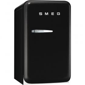 50's Retro Style Mini Refrigerator, Black, Right hand hinge