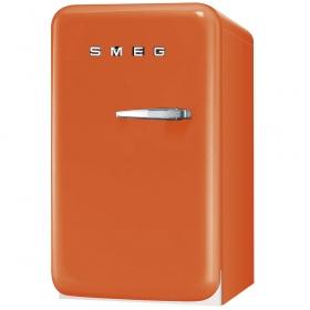 Smeg 50's Retro Style Mini Refrigerator, Orange, Left hand hinge