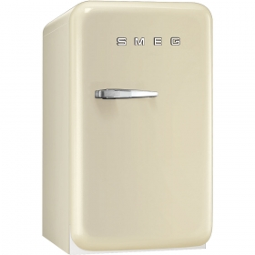 50's Retro Style Mini Refrigerator, Cream, Right hand hinge