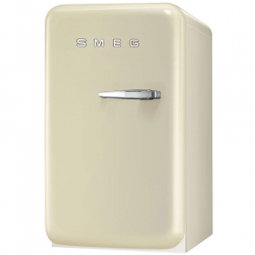 50's Retro Style Mini Refrigerator, Cream, Left hand hinge