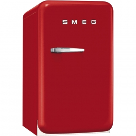 50's Retro Style Mini Refrigerator, Red, Right hand hinge