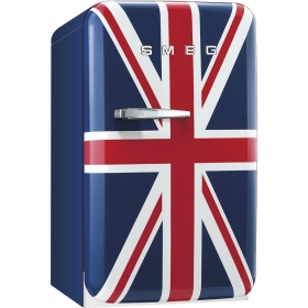Smeg 50's Retro Style Mini Refrigerator, Union Jack, Right hand hinge