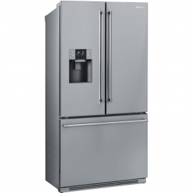 """Smeg 36"""", Stainless Steel French-Door Refrigerator with Automatic Freezer"""