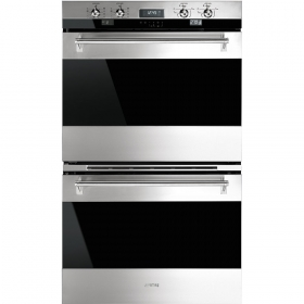 "Smeg 76CM (30"") ""Classic"" Electric Multifunction Double Oven Stainless Steel"