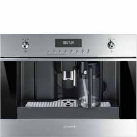 "Smeg 60 Cm (Approx. 24""), Fully-Automatic Coffee Machine With Milk Frother Stainless Steel"