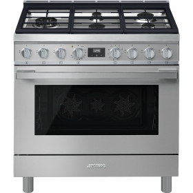 "Smeg ""Portofino"" Built-in kitchen, Stainless Steel Gas cooktop and multifunction electric oven 36"" x 25"""