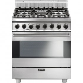 "Smeg Free-Standing Gas Range, 30"", Stainless Steel"
