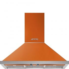 """Smeg 90 CM (approx. 36"""") Portofino, Chimney Hood, Orange"""