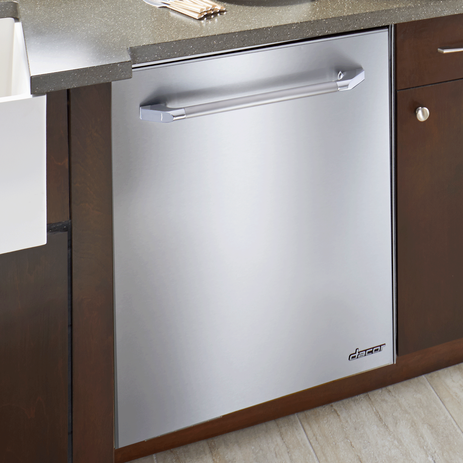 "Dacor Heritage 24"" Dishwasher, in Stainless Steel."