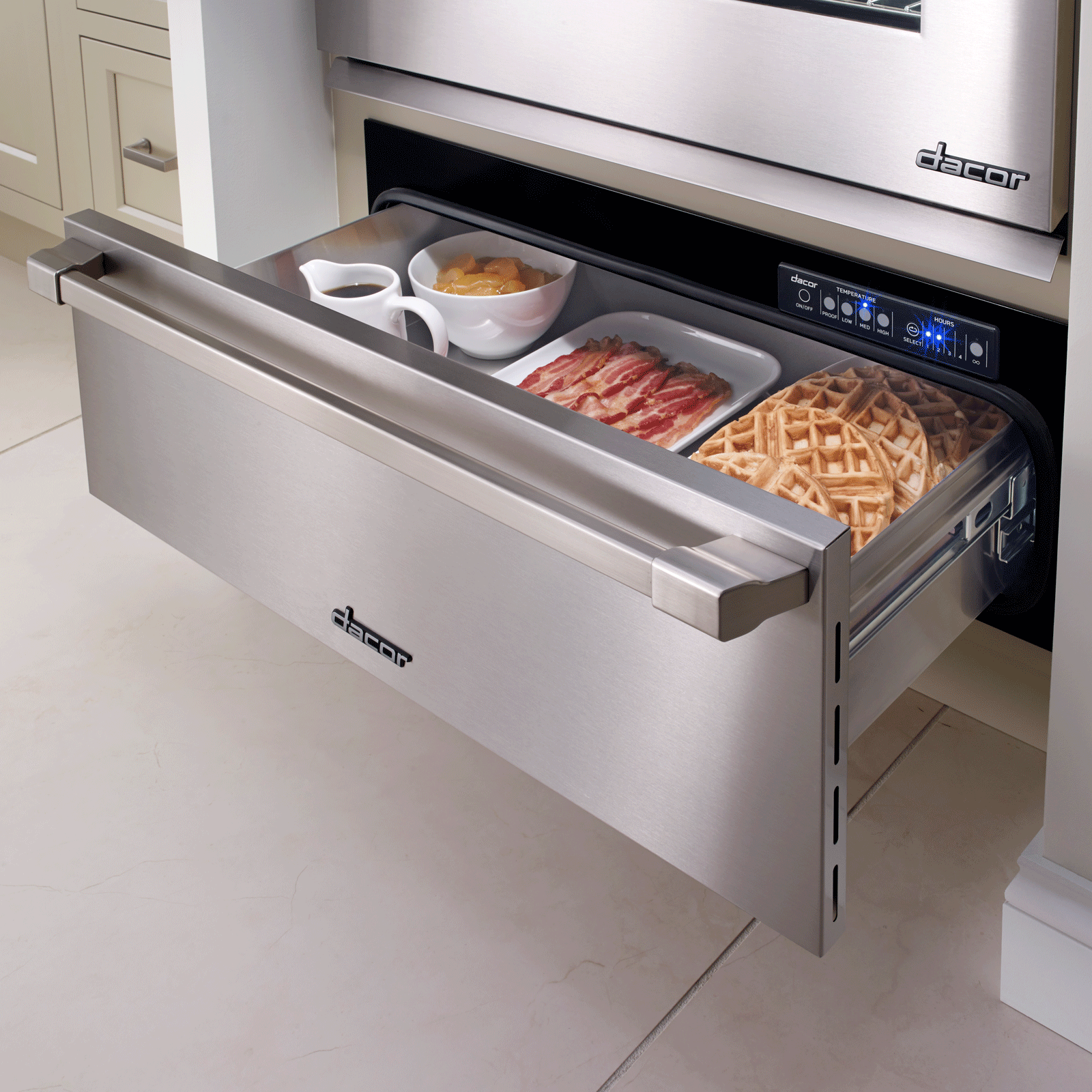 """Dacor Heritage 27"""" Epicure Warming Drawer, in Stainless Steel with Chrome Trim"""