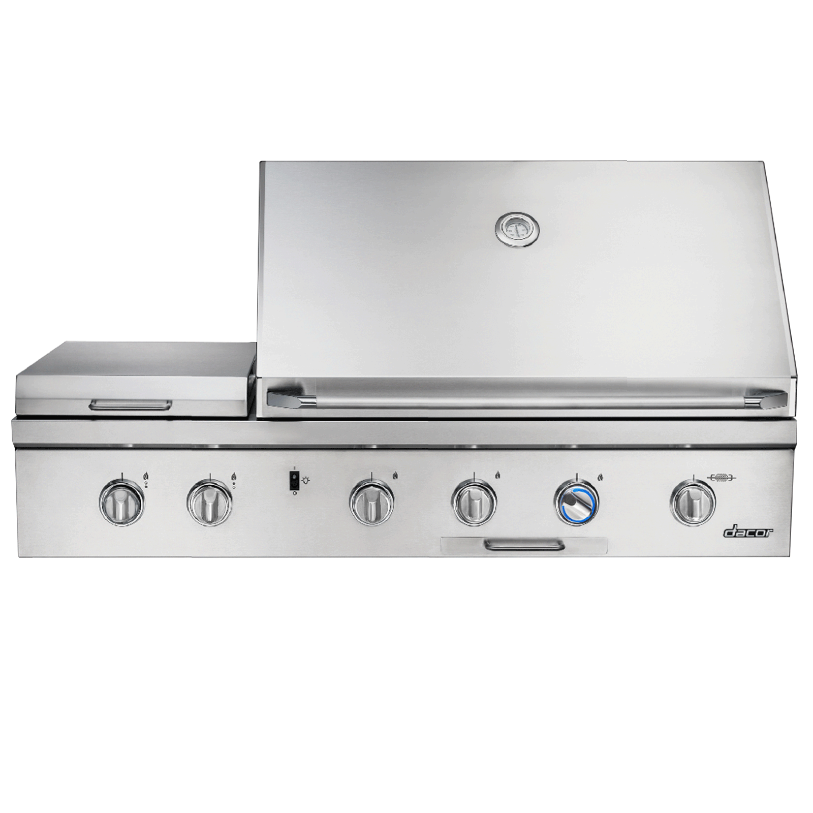 "Dacor Heritage 52"" Outdoor Grill, in Stainless Steel with Chrome Trim, includes Sear Burner, LP"