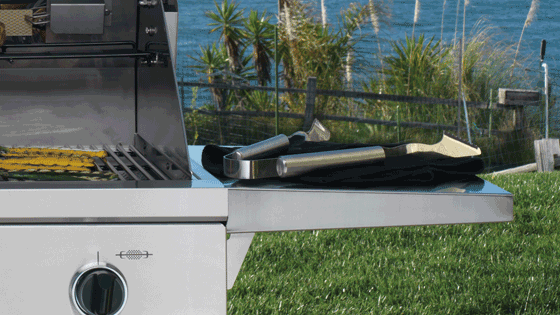 "Model: OBC36 | Dacor Heritage 36"" Outdoor Grill Cart in Stainless Steel with Chrome Trim"