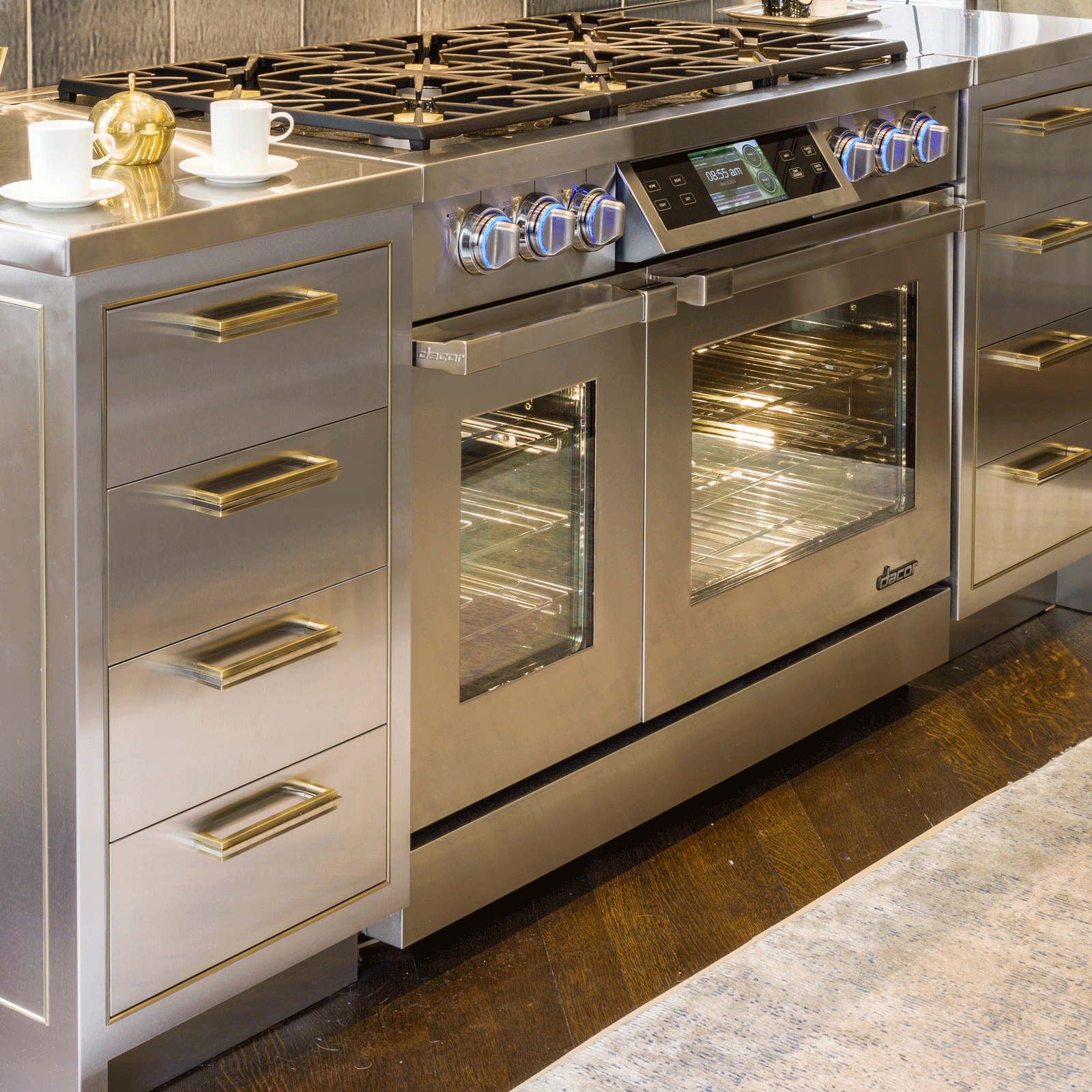 "Model: DYRP48DS/NG-Outlet | Dacor Discovery iQ 48"" Dual-Fuel Range, in Stainless Steel, Natural Gas"