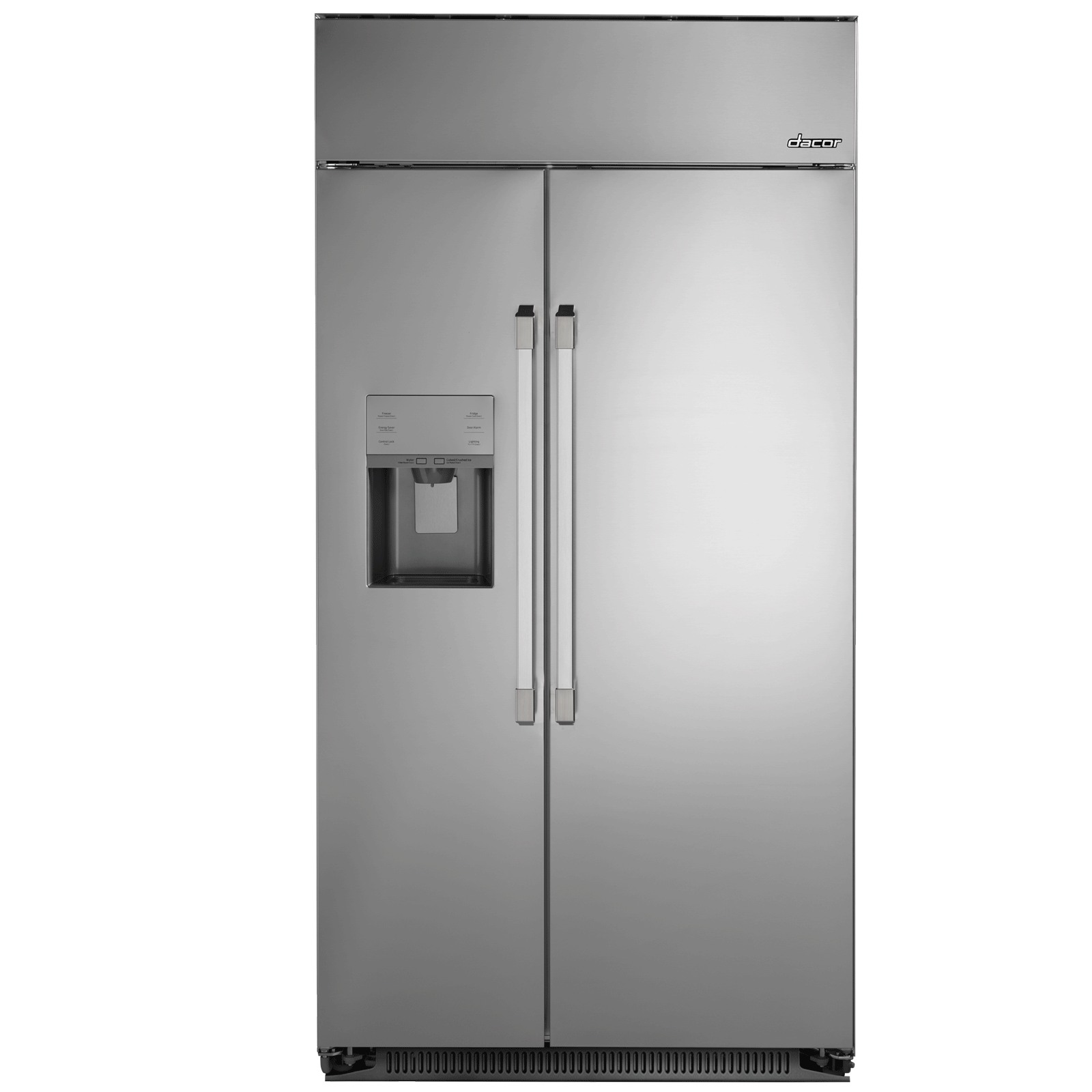 "Dacor Heritage 42"" Built-In Side-by-SideRefrigerator, in Stainless Steel with Pro Style Handle"
