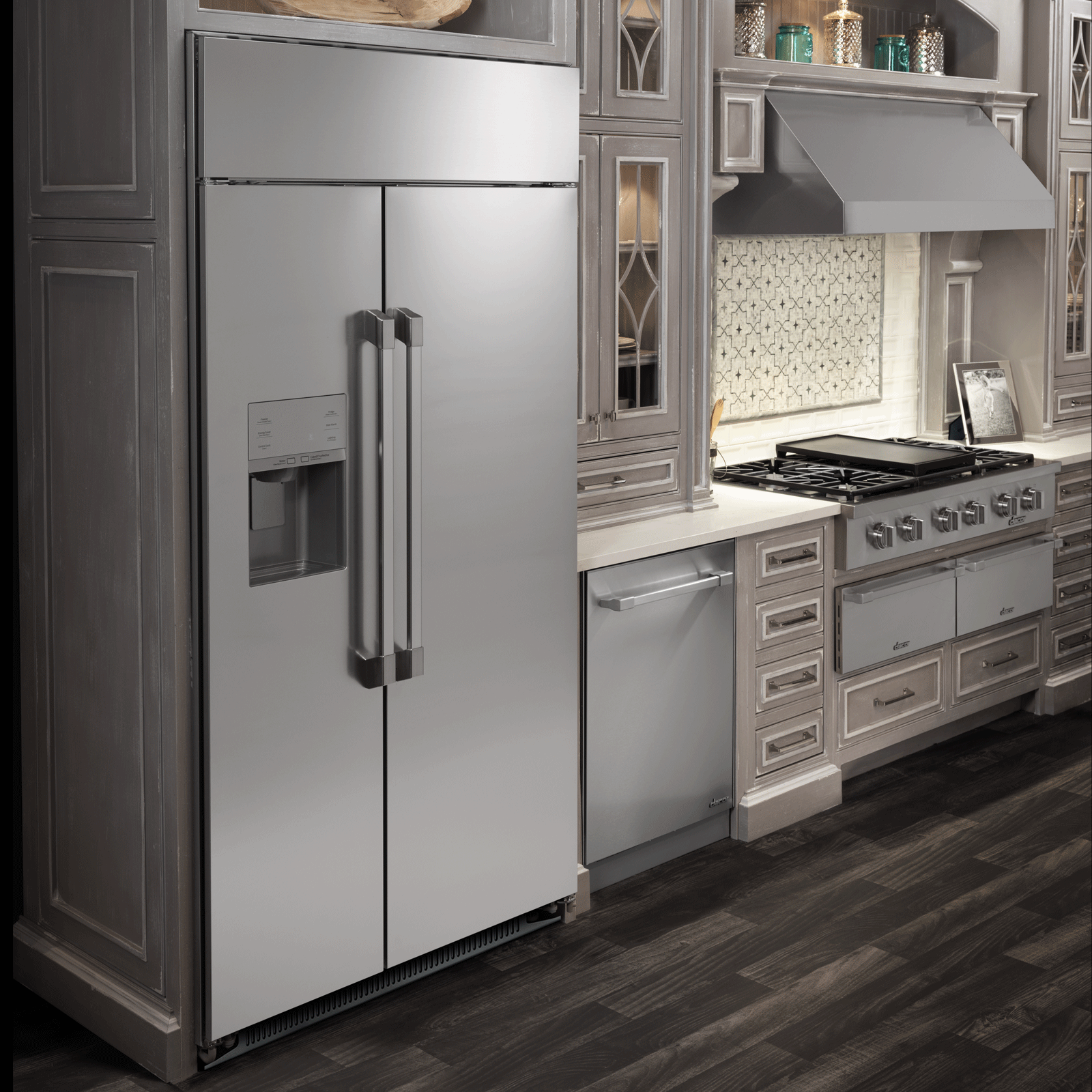 "Model: DYF42SBIWR | Dacor Professional 42"" Built-In Side-by-Side Refrigerator"